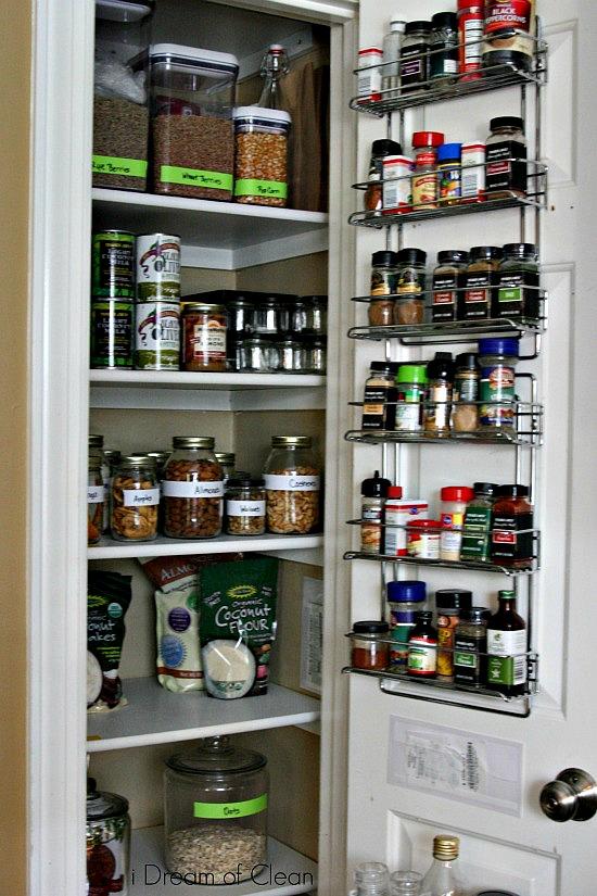 Organized Kitchen Pantry - I Dream of Clean