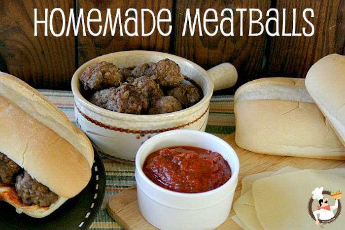 Homemade Meatballs   Recipe on PocketChangeGourmet.com
