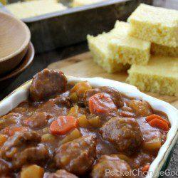 Meatball Stew   Recipe on PocketChangeGourmet.com