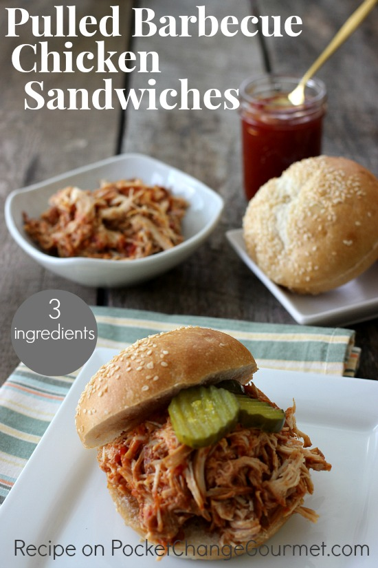 Pulled Barbecue Chicken Sandwiches | Recipe on PocketChangeGourmet.com
