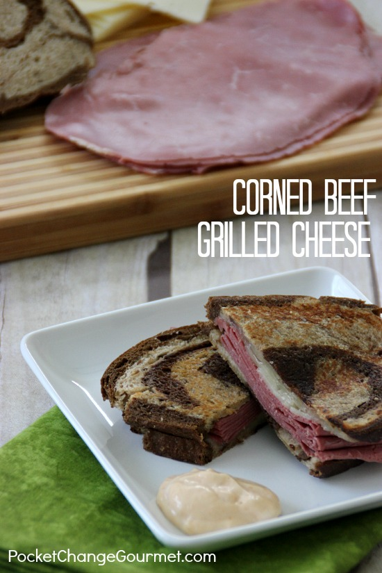 Corned Beef Grilled Cheese | on PocketChangeGourmet.com