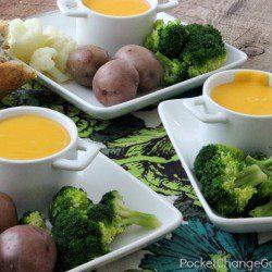 Irish Cheese Fondue | St. Patrick's Day Recipe | on PocketChangeGourmet.com