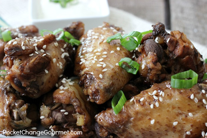 Slow Cooker Teriyaki Wings | Recipe on PocketChangeGourmet.com