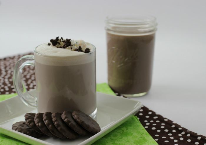 Thin Mint Latte   Recipe on PocketChangeGourmet.com