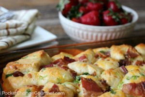 Cheesy Bacon Pull Apart Biscuits