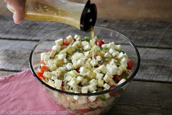 Layered Italian Pasta Salad   Recipe on PocketChangeGourmet.com