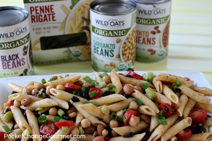 Healthy Three Bean Pasta Salad | Recipe on PocketChangeGourmet.com