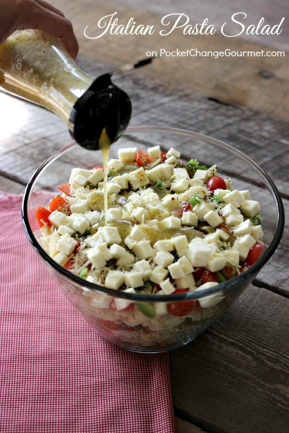 Layered Italian Pasta Salad Pocket Change Gourmet