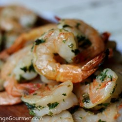 Grilled Shrimp with Butter and Herbs   Recipe on PocketChangeGourmet.com