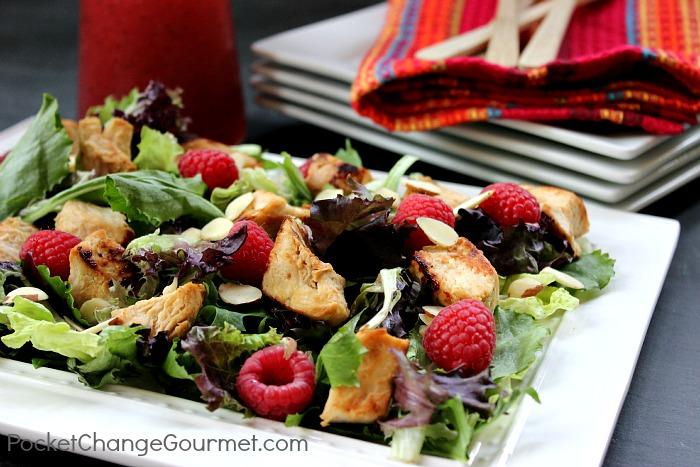 Raspberry Chicken Salad   Recipe on PocketChangeGourmet.com