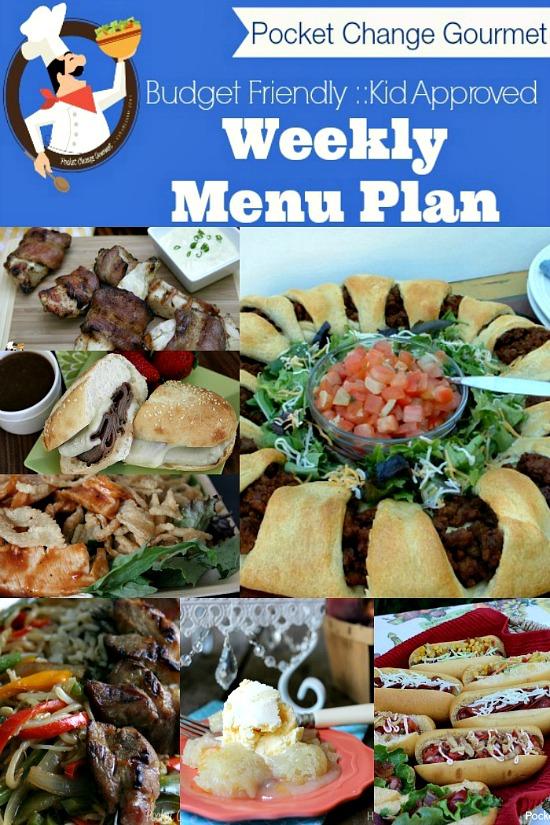 Weekly Menu Plan.July 28