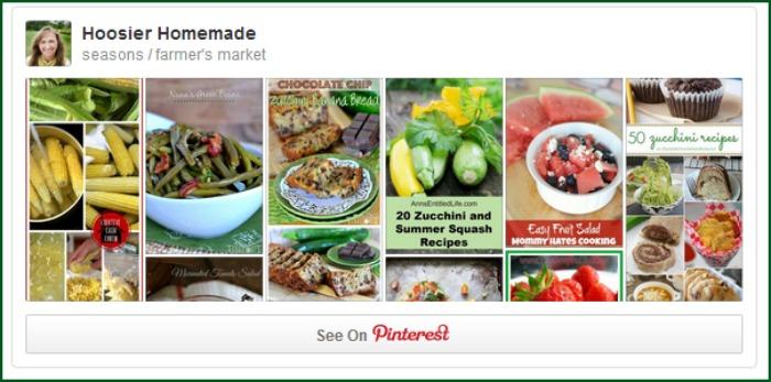 Farmer's Market Pinterest Board