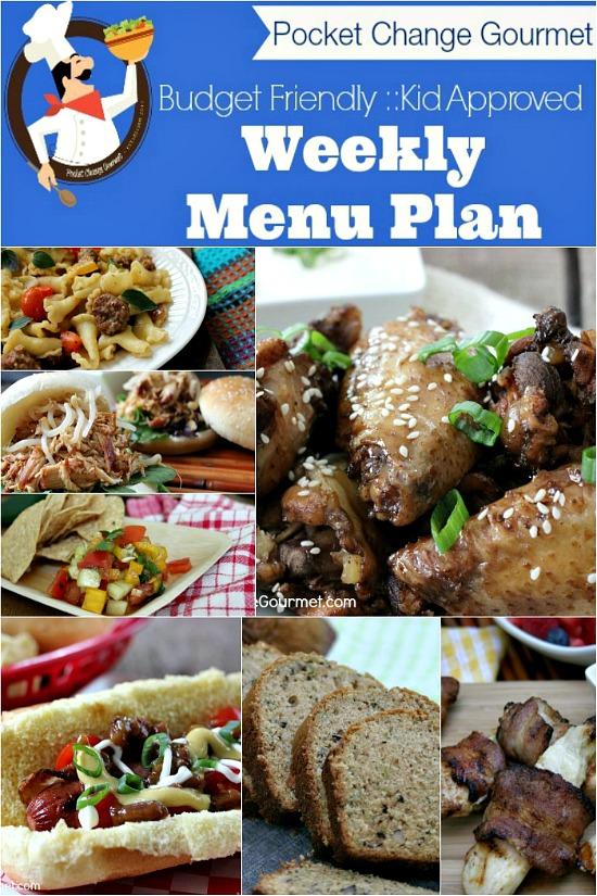 Weekly Menu PlanAugust 11