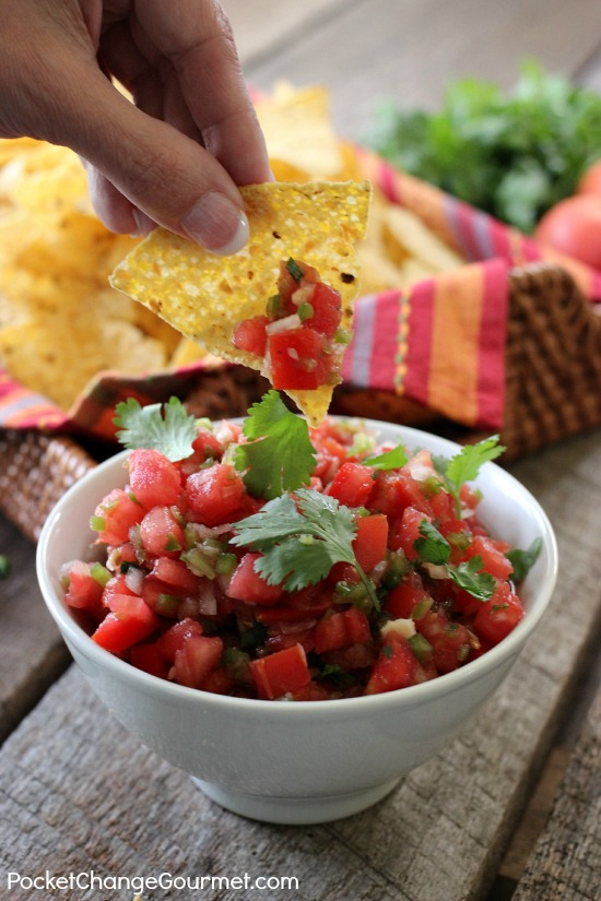 Easy Homemade Salsa Recipe | on PocketChangeGourmet.com
