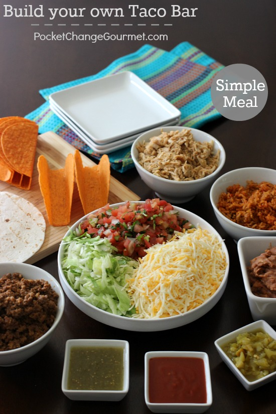 Taco Dinner Party Ideas Part - 16: Build Your Own Taco Bar | Recipes On PocketChangeGourmet.com
