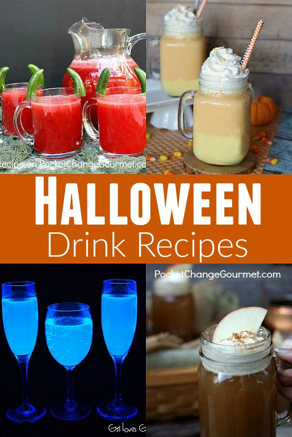 Whip up a FUN Halloween Dinner for your family! Grab a recipe to take to a Halloween Party! These Halloween Recipes include - appetizers, main dishes, side dishes, drinks and Halloween Dessert Recipes!