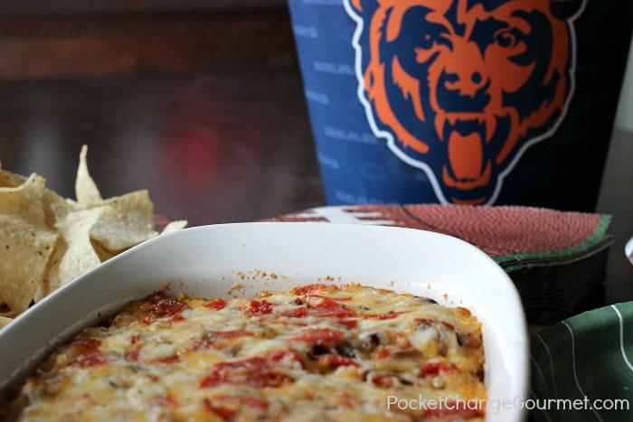 Super Supreme Pizza Dip | Recipe on PocketChangeGourmet.com