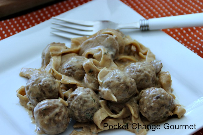 Swedish Meatball Casserole on plate | Pocket Change Gourmet