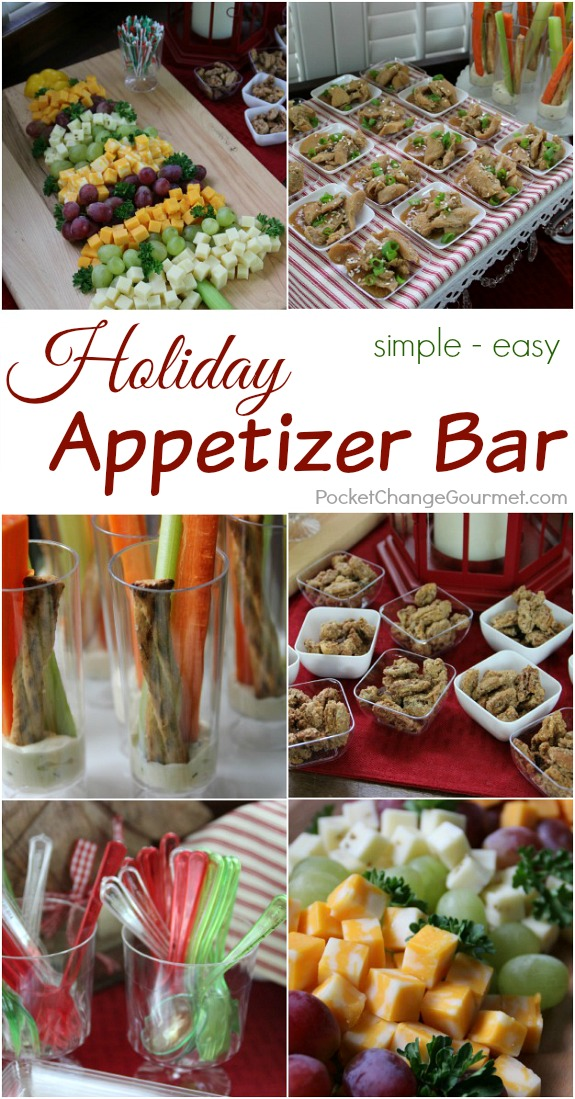 Create this Simple Holiday Appetizer Bar and WOW your guests! Pin to your Christmas Board!