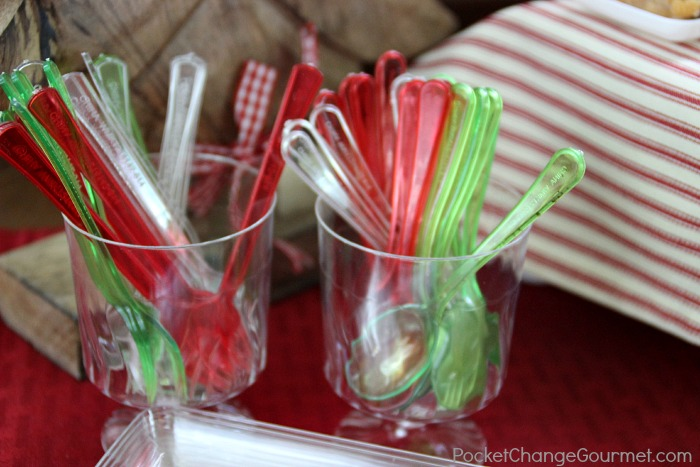 Plastic silverware for Holiday Appetizers