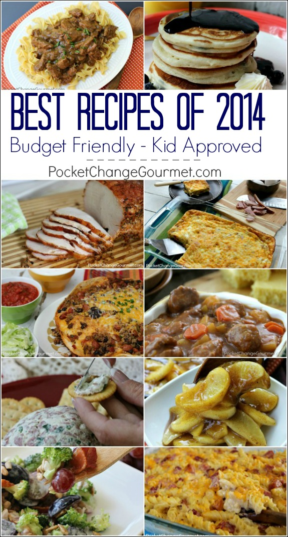 Budget Friendly - Kid Approved - Best Recipes on PocketChangeGourmet.com of 2014