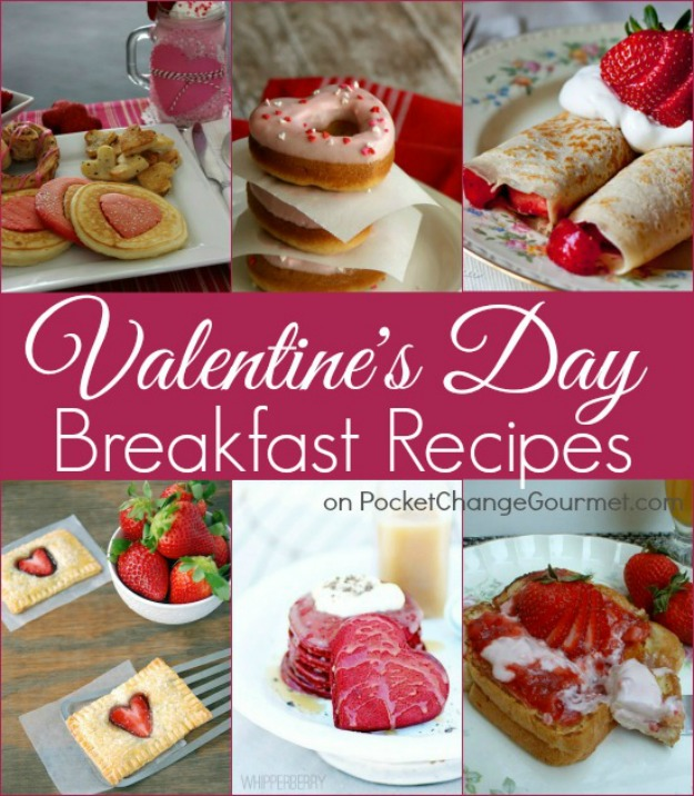 Valentine's Day Breakfast Recipes - Whip up a special breakfast for your sweetie or the family! Pin to your Recipe Board!
