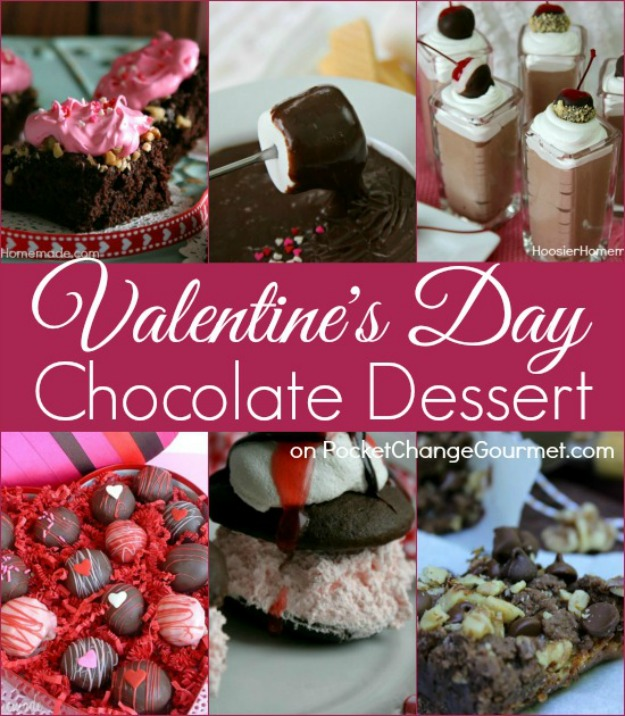 Valentine's Day Chocolate Recipes - Treat your sweetie to a delicious chocolate dessert! Pin to your Recipe Board!