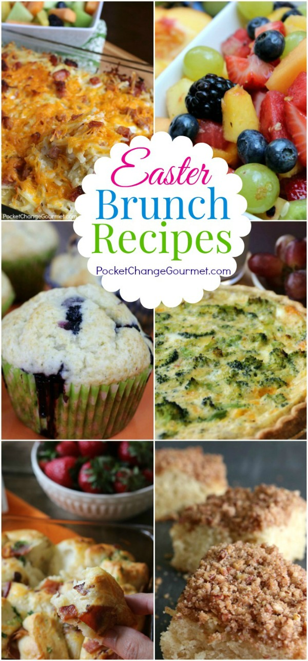 Easter Brunch Recipes - Breakfast Casseroles, Fruit Salad, Coffee Cakes, Muffins and More! Serve up a special brunch!