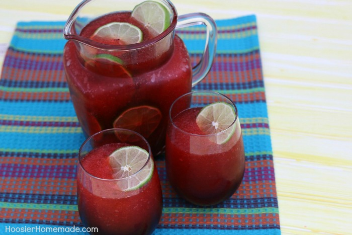 Lime Berry Sangria Slush