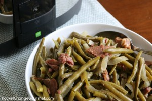 Slow Cooker Grean Beans with Ham