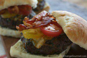 Four Cheddar Garden Burgers