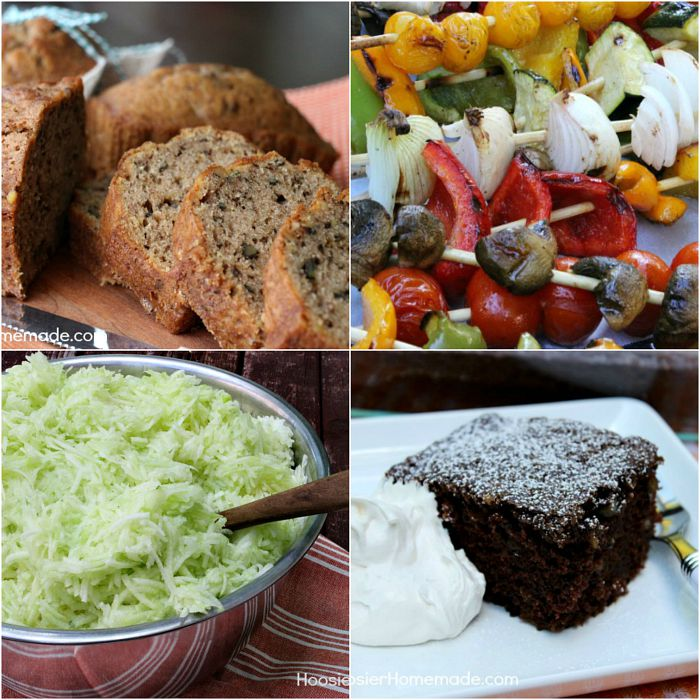 Use up all those Zucchini from your garden in these delicious recipes! Zucchini Bread, Chocolate Zucchini Cake, Grilled Vegetables and How to Freeze Zucchini! Click on the Photo for Recipes!