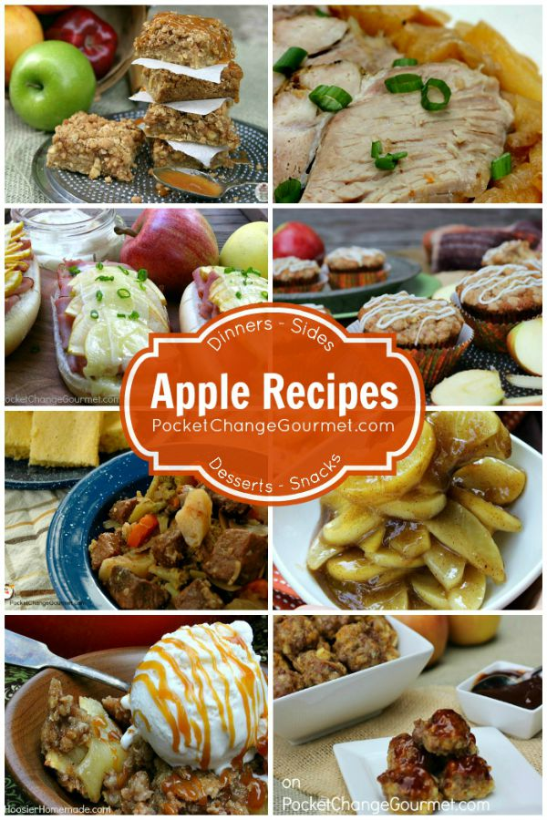 Whether you dip them, make sauce with them, squeeze them into cider or bake a dessert with them - APPLES are incredible! These Apple Recipes include Dinner, Sides, Snacks and of course Dessert! The perfect recipes for Apple Season!