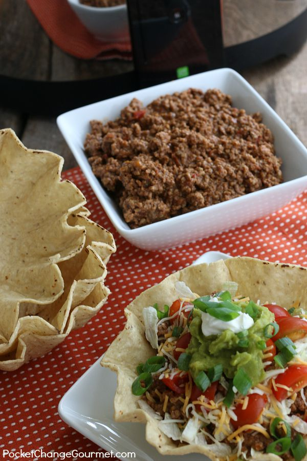 With ONLY 3 ingredients make this Slow Cooker Taco Filling! It takes minutes to put together, can be frozen for a quick meal later and works great in LOTS of different recipes! Click on the Photo for the Recipe!