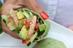 California Wraps with fresh ingredients