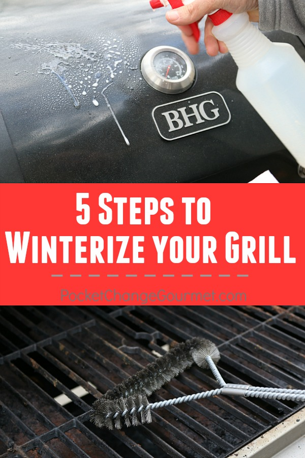 Winterize your Gas Grill in 5 easy steps and be sure to fire it up come Spring.