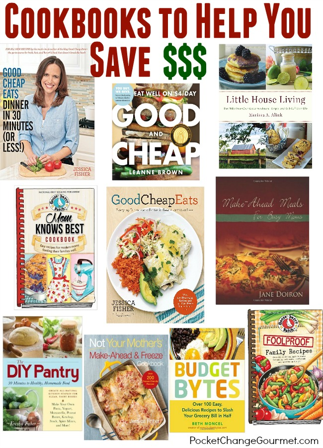 Saving money on our grocery bill is always a priority for our family, and I bet it is for you as well. These 10 cookbooks to help you save money make the perfect gift for the homecook, newlywed or for the budget friendly friend!