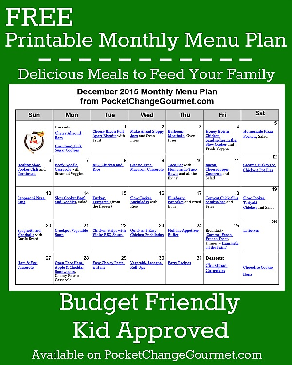 11 Make Ahead Camping Recipes For Easy Meal Planning: December Menu Plan: 2015