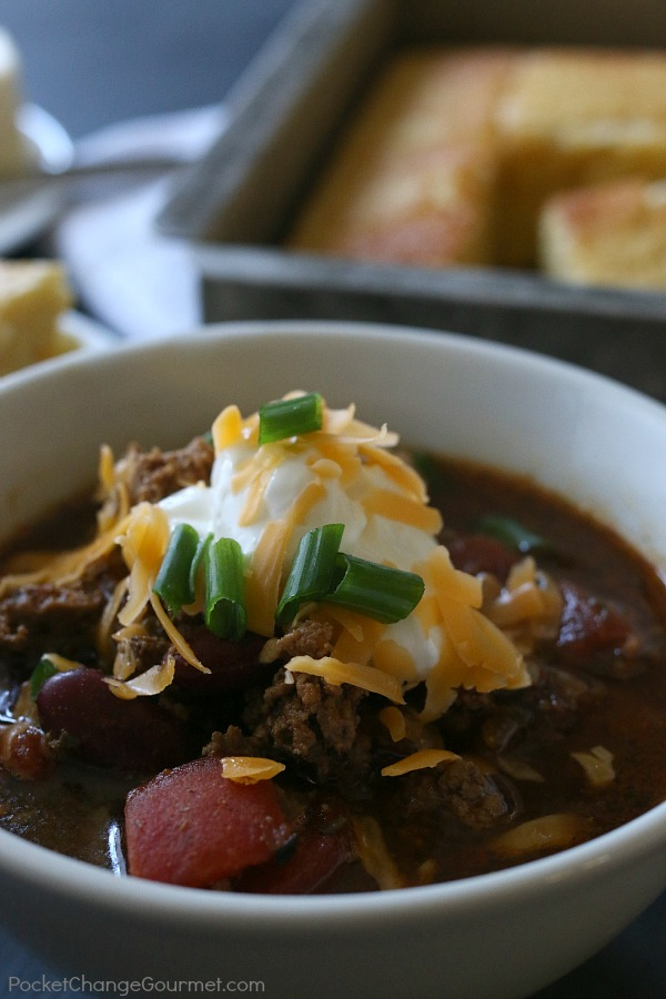No need to sacrifice flavor when it comes to eating healthy - this Healthy Slow Cooker Chili is perfect! Spicy or Mild - you choose, either way it's a MUST make!