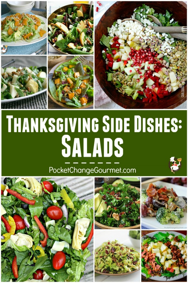 Every good meal begins with Salad! Perfect anytime of year these Salad Recipes are a delicious side dish or as a main course! These Thanksgiving Vegetables Recipes are sure to please everyone!