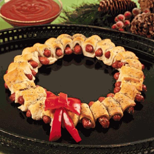 Christmas Mini Sausage Wreath