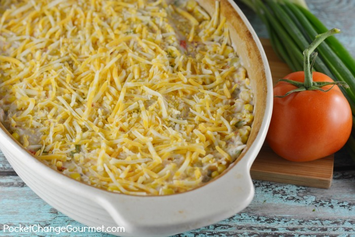 Hot Corn Dip with Cheese