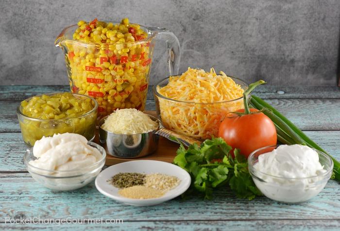 Ingredients for Hot Corn Dip