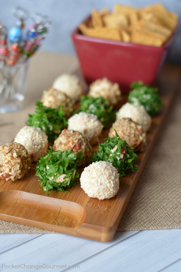 Everyone loves a good cheese ball! So why not give them their own! These Mini Cheese Balls are perfect for parties, movie night, football games and more!