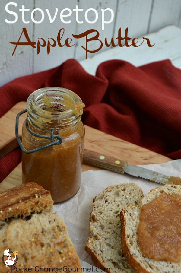 Grab the biscuits! It's time to make Apple Butter! Let it simmer away on the stove top and your house will smell amazing!
