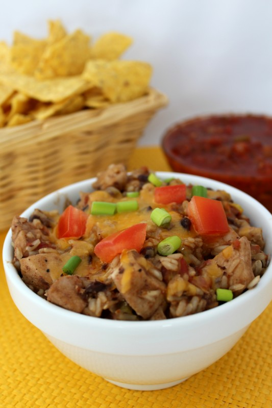 One Pan Chicken Burrito Bowl from Teaspoon of Goodness