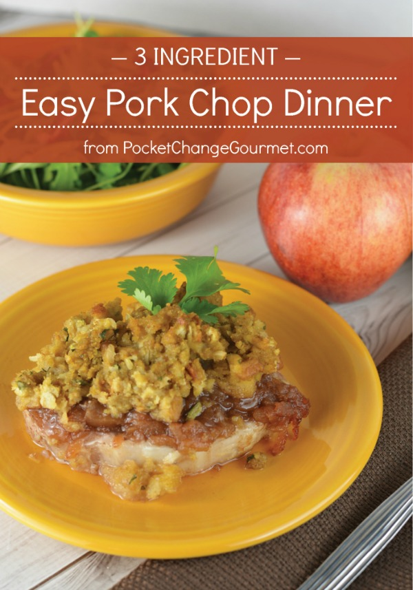 Are you coming up towards the end of another busy week wondering what to make for dinner? Don't stress! Make this easy pork chop dinner that is very budget friendly and with only THREE INGREDIENTS you will have an entire meal for your family. I definitely call this a Win/Win!