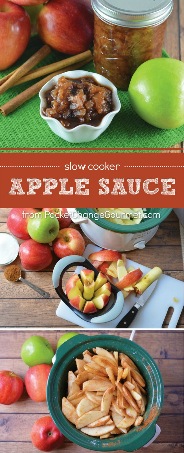 No need to buy apple sauce when you can make it at home with ONLY 3 ingredients! PLUS use your Slow Cooker and let it do all the work for you! BONUS! Your house will smell amazing!