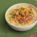 Warm up with this All American Cheeseburger Soup! A simple recipe that will WOW your family!