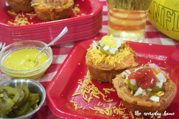 Chili Cheese Dog Cups from The Everyday Home Blog